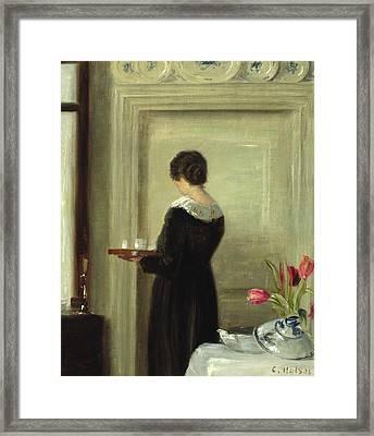 Afternoon Tea Framed Print by Carl Holsoe