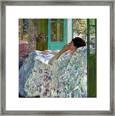Afternoon Yellow Room Framed Print by Carl Frieseke