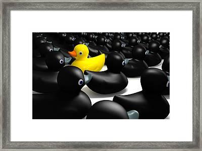 Against The Flow Framed Print by Allan Swart