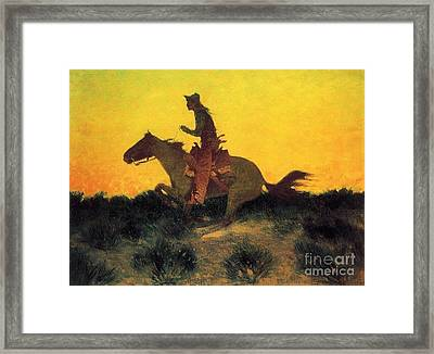 Against The Sunset Framed Print by Pg Reproductions