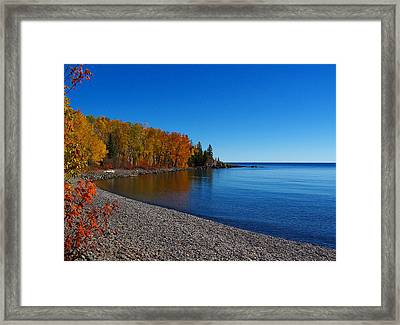 Agate Beach On Lake Superior Framed Print by Steve Anderson