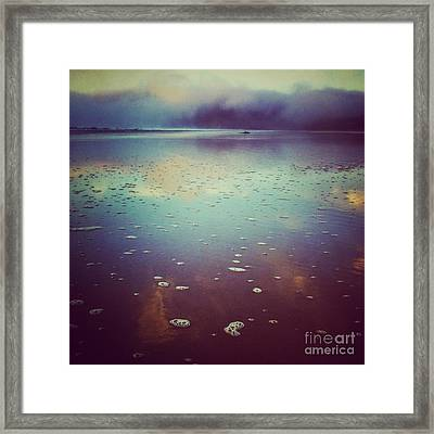 Agate Beach Reflections Framed Print by Andrea Gingerich