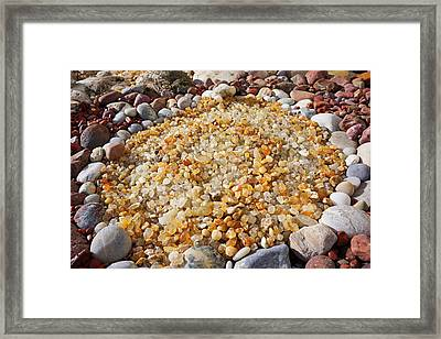 Agate Rock Garden Art Prints Coastal Beach Framed Print by Baslee Troutman