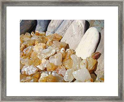 Agate Rocks Beach Art Prints Agates Framed Print by Baslee Troutman