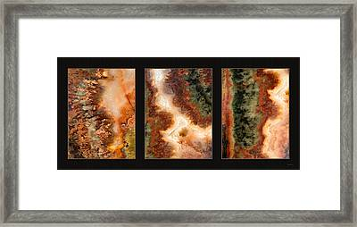 Agate Triptych 1 Framed Print by Leland D Howard