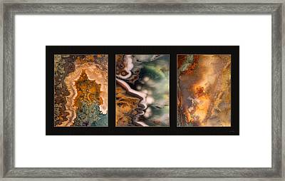 Agate Triptych 5 Framed Print by Leland D Howard