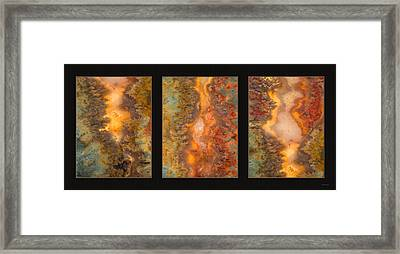 Agate Triptych 6 Framed Print by Leland D Howard