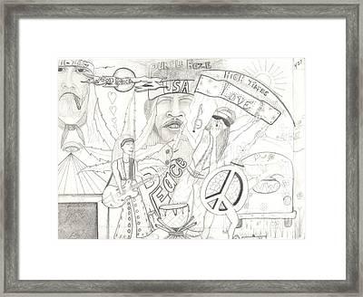 Age Of Aquarius Framed Print by Daryl Schooley