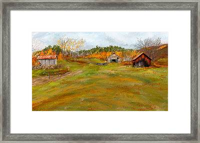 Aged With Character-farm Life Framed Print by Lourry Legarde