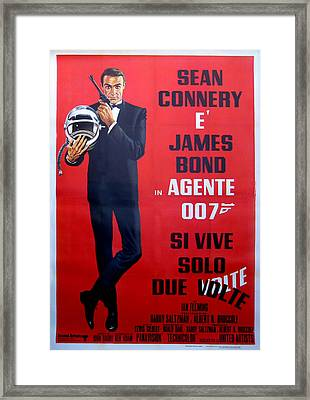 Agente 007 Si Vive Solo Due Volte Framed Print by Georgia Fowler