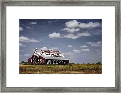 Aggie Barn Framed Print by Joan Carroll