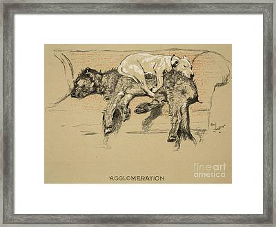 Agglomeration Framed Print by Cecil Charles Windsor Aldin
