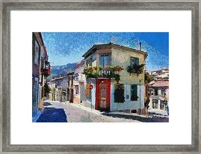 Agiassos Village Framed Print by George Atsametakis