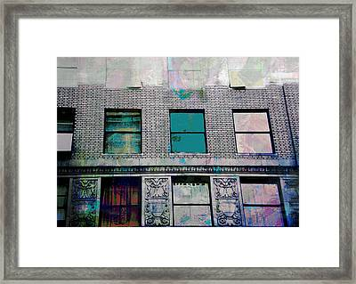Aging Windows Downtown Textures Framed Print by John Fish