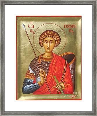 Agios Georgios - Saint George Framed Print by Theodoros Patrinos
