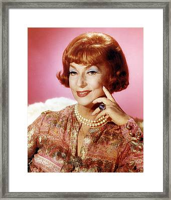 Agnes Moorehead In Bewitched  Framed Print by Silver Screen