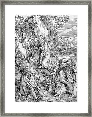 Agony In The Garden From The 'great Passion' Series Framed Print by Albrecht Duerer