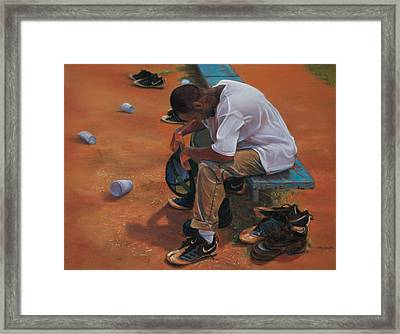 Agony Of Defeat Framed Print by Christopher Reid