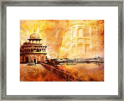 Agra Fort Framed Print by Catf