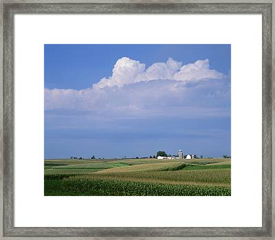 Agriculture - Undulating Fields Framed Print by R. Hamilton Smith