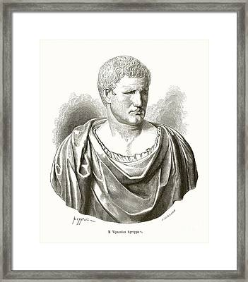 Agrippa, Roman General Framed Print by Middle Temple Library