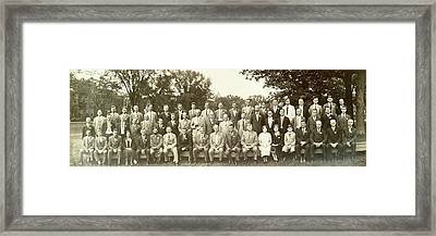 Agronomy And Genetics Framed Print by American Philosophical Society