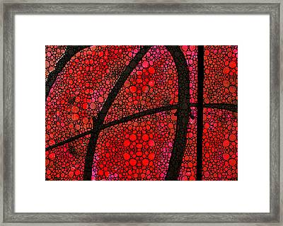 Ah - Red Stone Rock'd Art By Sharon Cummings Framed Print by Sharon Cummings