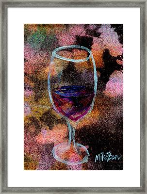 Ahem A Toast Framed Print by Art By Miko