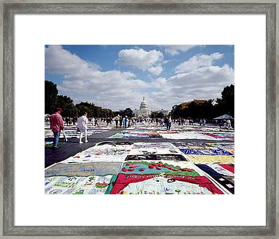 Aids Quilt Framed Print by Carol M. Highsmith Archive, Library Of Congress