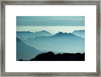 Aiguilles Rouges Nature Reserve Framed Print by Duncan Shaw