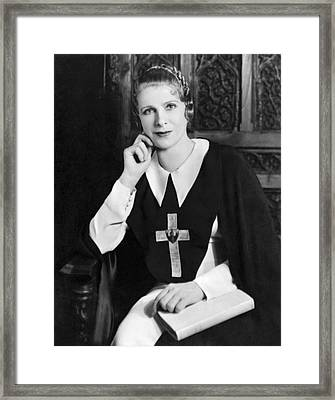 Aimee Semple Mcpherson Framed Print by Underwood Archives