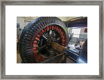 Air Compressor At An Iron Ore Mine Framed Print by Jim West