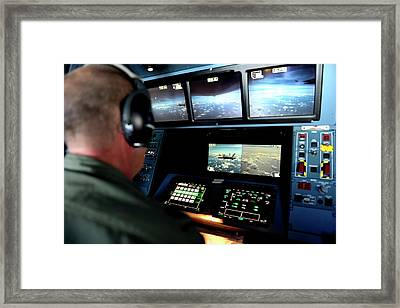 Air Force Mid-air Refuelling Framed Print by Matthew Bruch