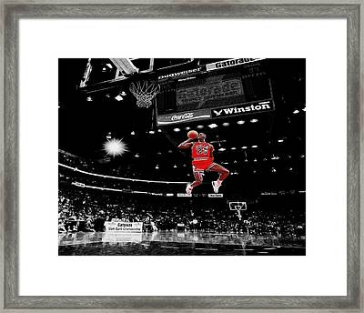 Air Jordan Framed Print by Brian Reaves