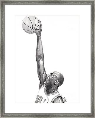 Air Jordan Framed Print by Devin Millington