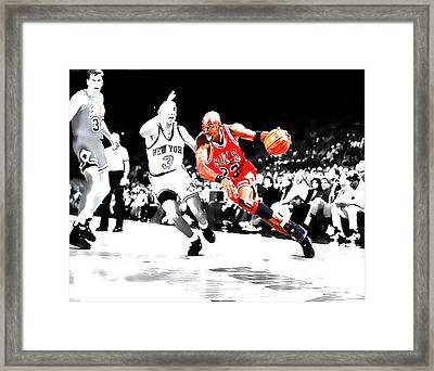 Air Jordan Drive On Starks Framed Print by Brian Reaves