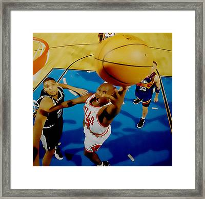 Air Jordan Easy Two Framed Print by Brian Reaves