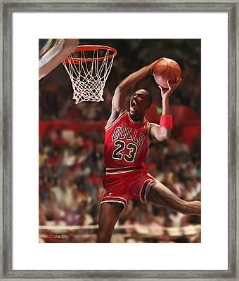 Air Jordan Framed Print by Mark Spears