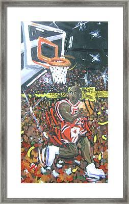 Air Jordan Framed Print by Matt Umthun