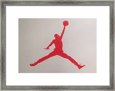 Air Jordan Framed Print by Peter Virgancz