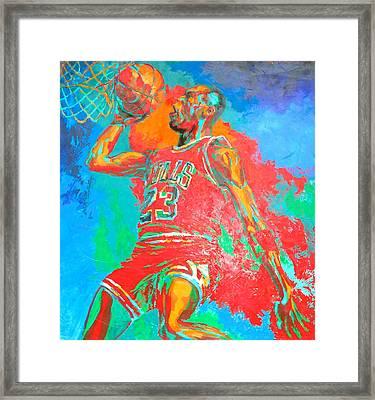 Air Jordan Framed Print by Steven Mockus