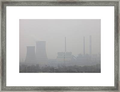 Air Pollution Framed Print by Ashley Cooper