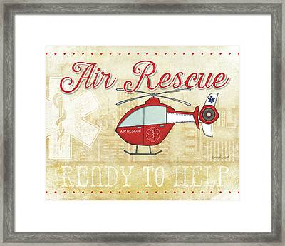 Air Rescue Framed Print by Jennifer Pugh