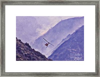 Air Support Drop Framed Print by Tommy Anderson