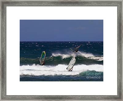 Air Time Framed Print by Mike  Dawson