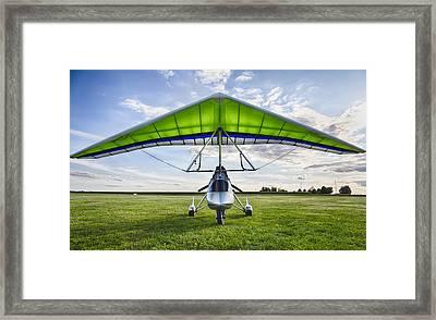 Airborne Xt-912 Microlight Trike Framed Print by Adam Romanowicz