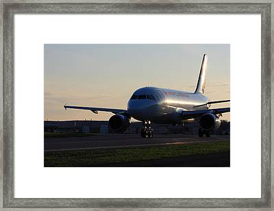 Airbus 319 Air Canada In Ottawa International Airport Yow Canada Framed Print by Andrei Filippov