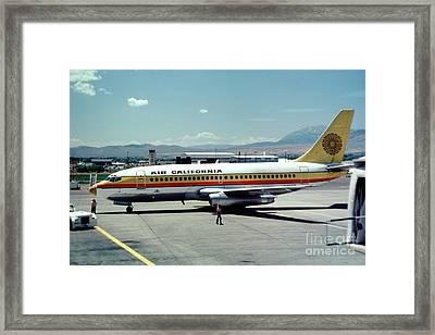 Aircal Boeing 737 Framed Print by Wernher Krutein