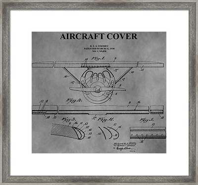 Aircraft Cover Framed Print by Dan Sproul