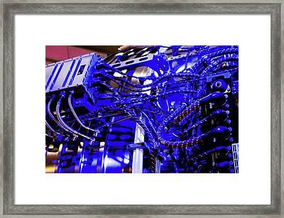 Aircraft Engine Wiring Loom. Framed Print by Mark Williamson